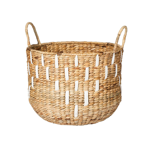 Nate Berkus Water Hyacinth Basket With Handles