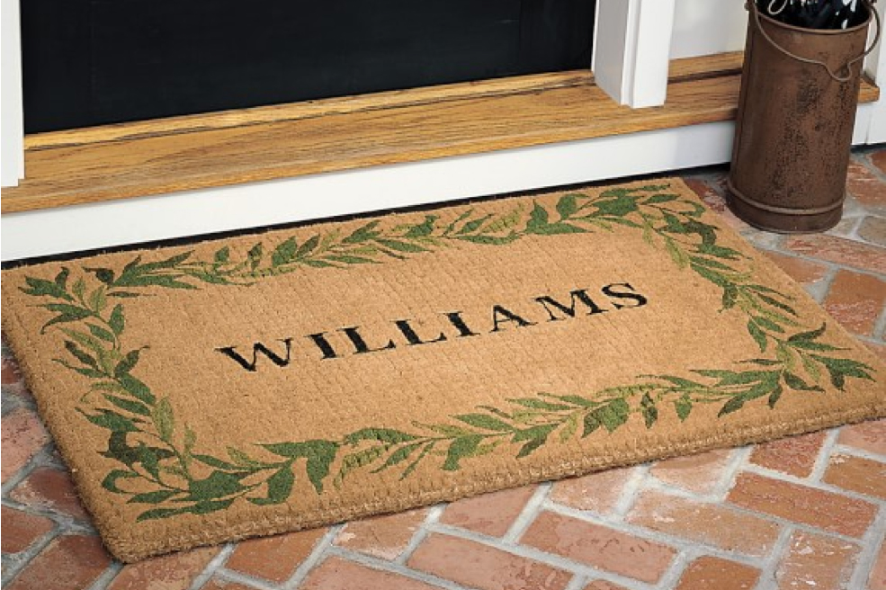 Personalized Bay Leaf Coir Doormat