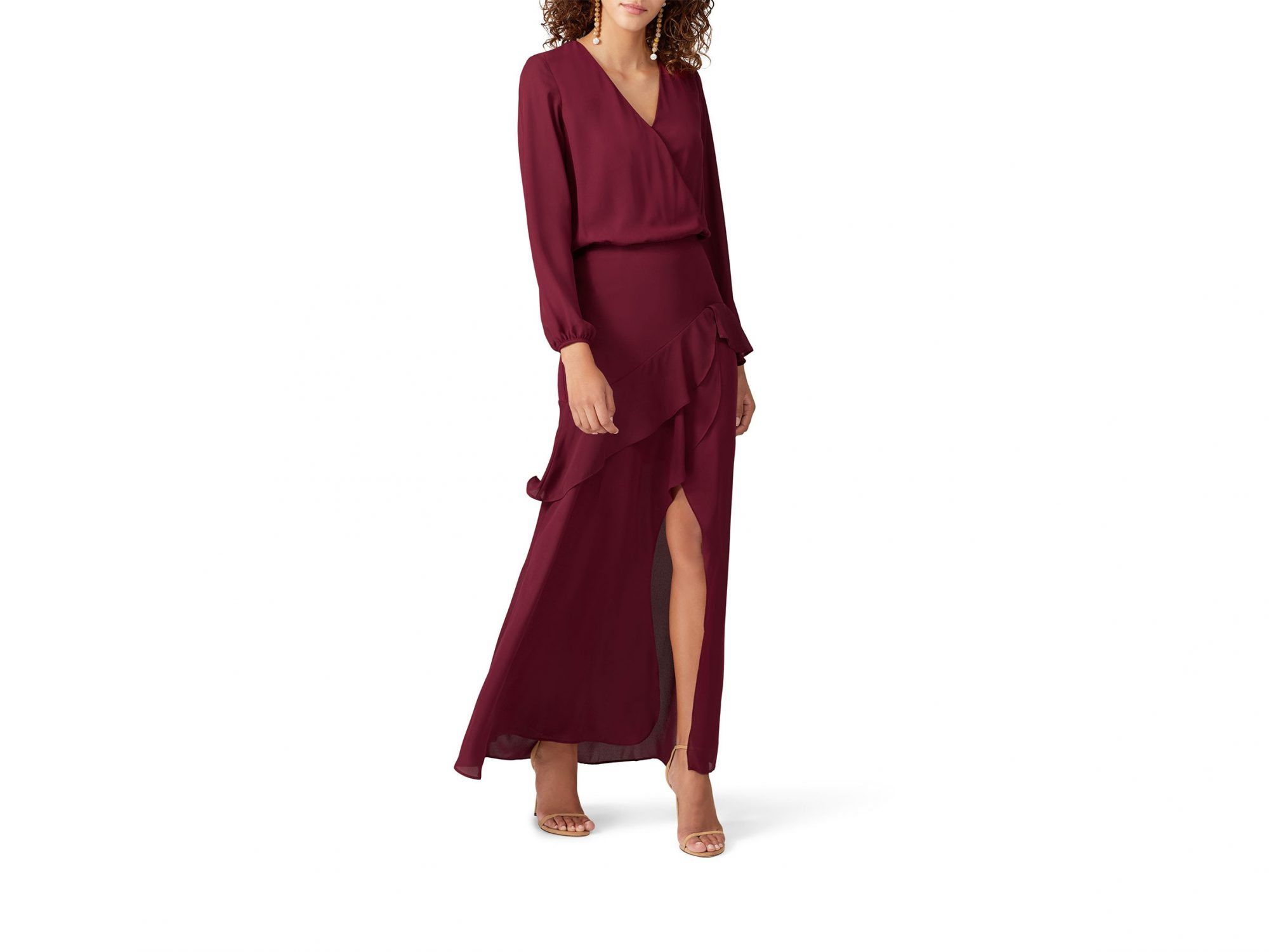 Krisa Red Layered Gown