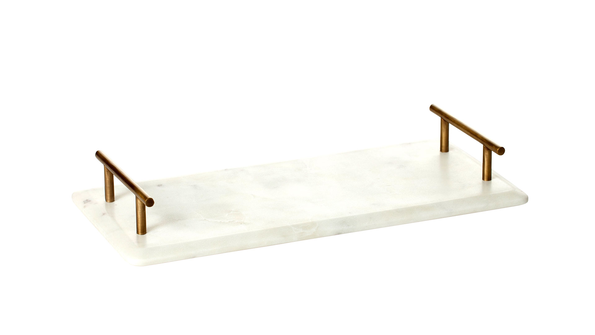 Marble & Brass Serving Tray