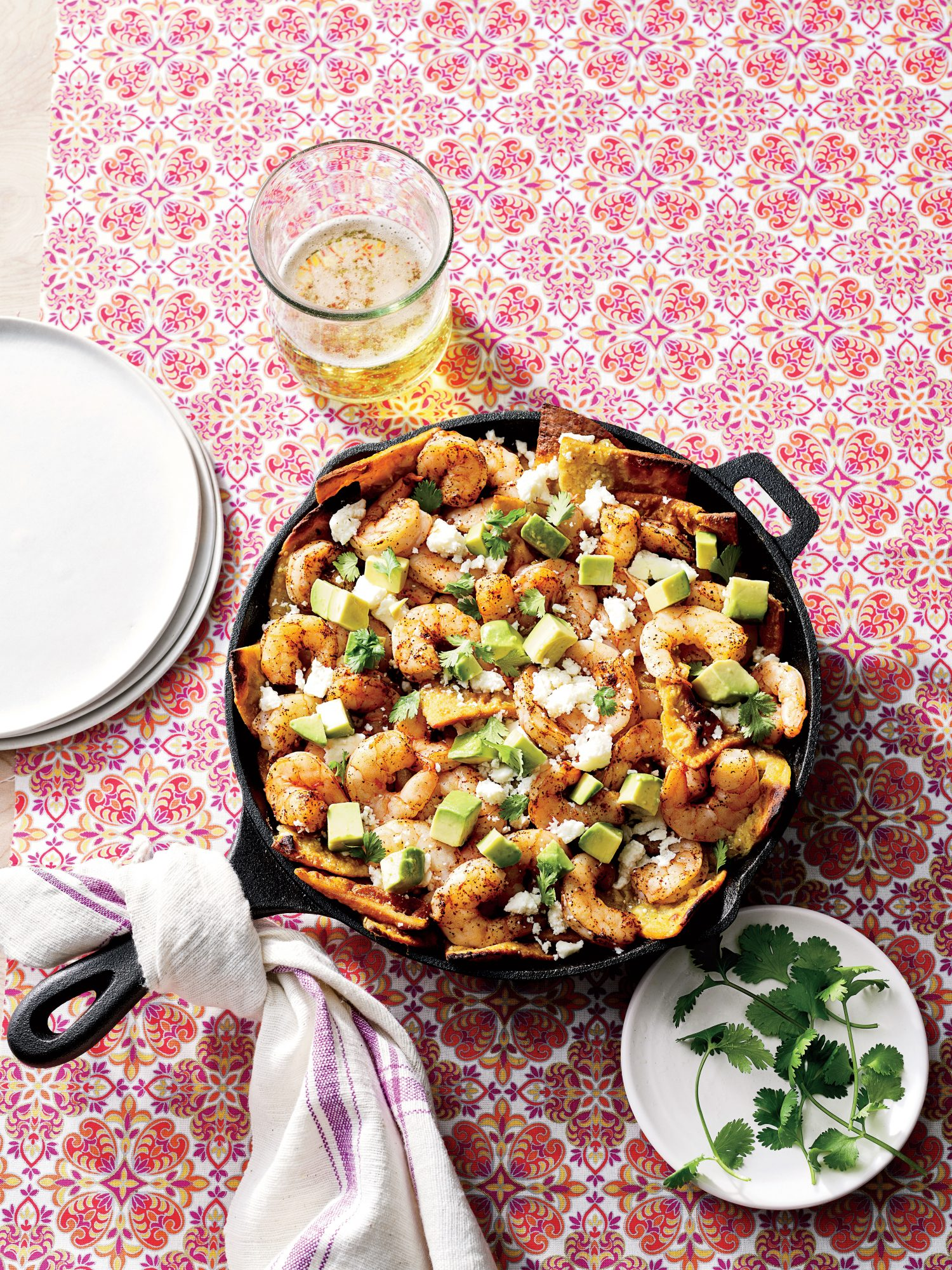 Skillet Shrimp Chilaquiles Recipe