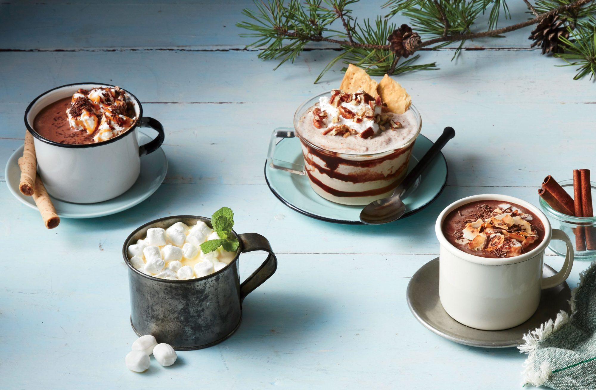 Boozy Buttermint White Hot Chocolate