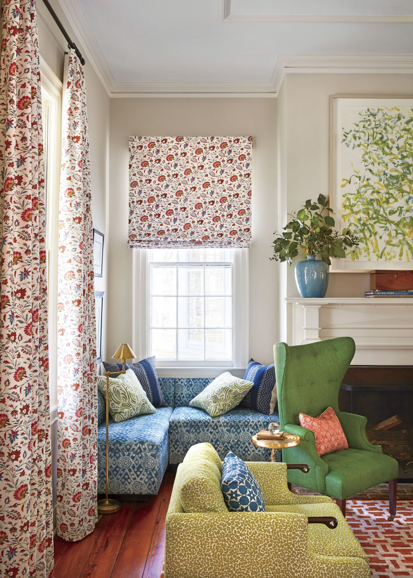Andrew Howard Cozy Living Room Window Seat