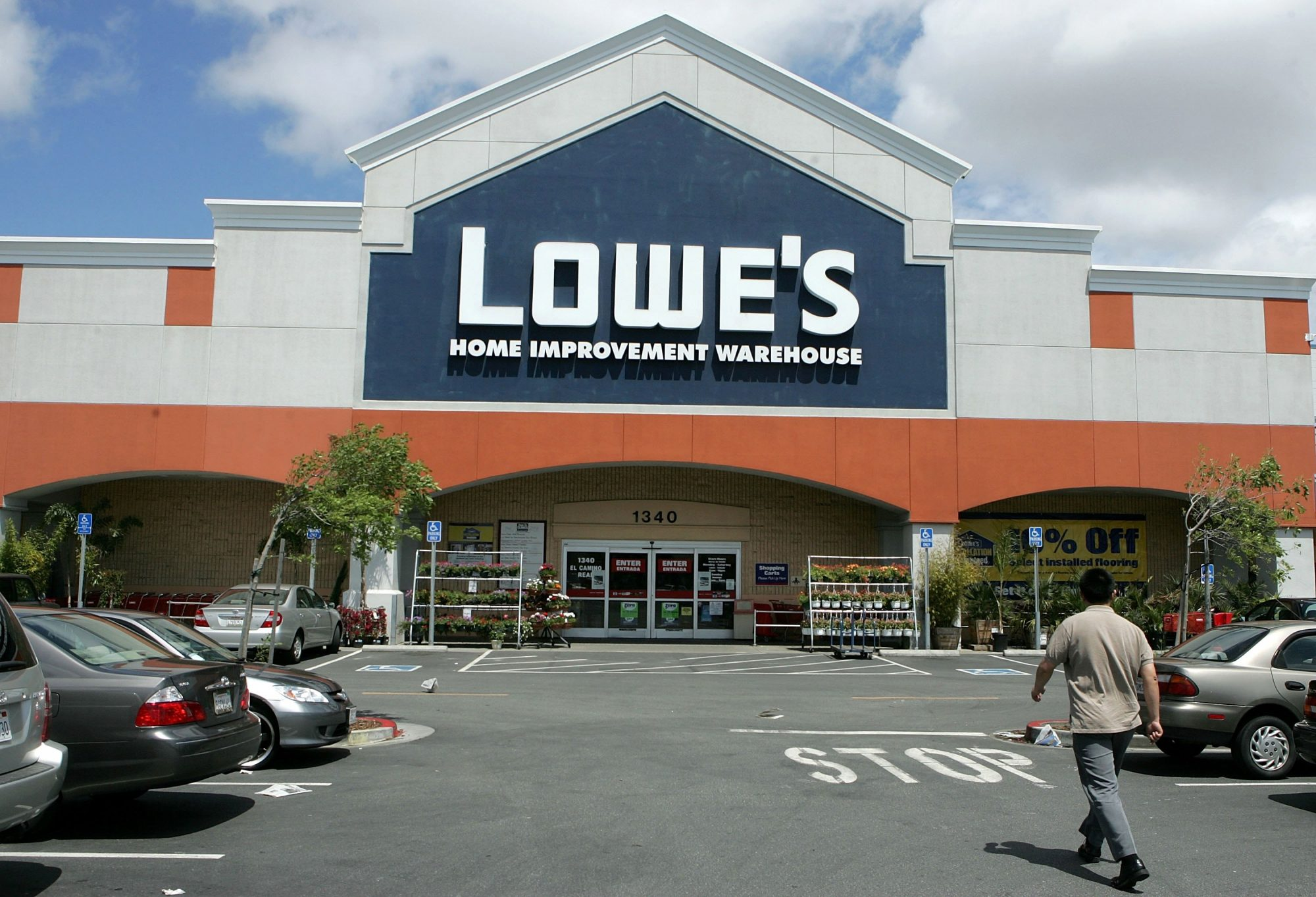 A Lowe's home improvement warehouse store is seen May 22, 2006 in San Bruno, California.
