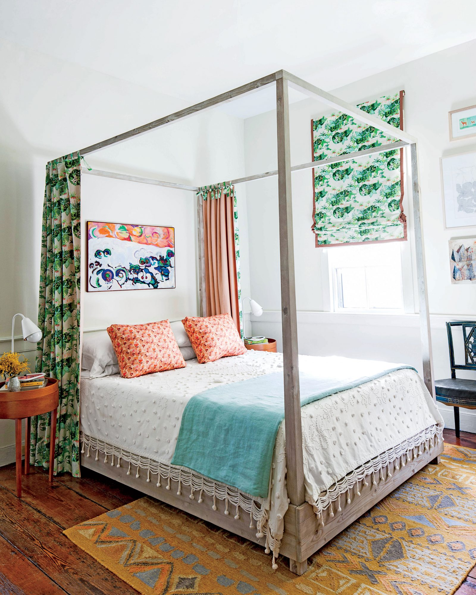 A Charleston Single House: Bright White Bedroom