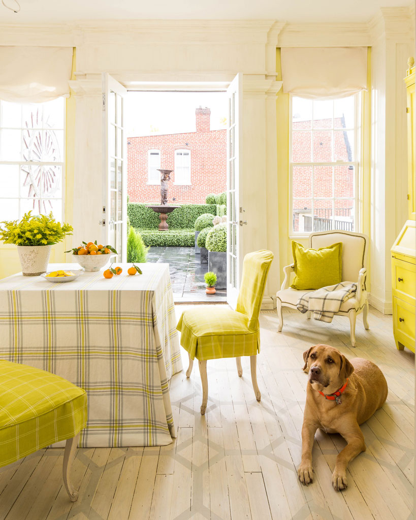 Room with Yellow Accents