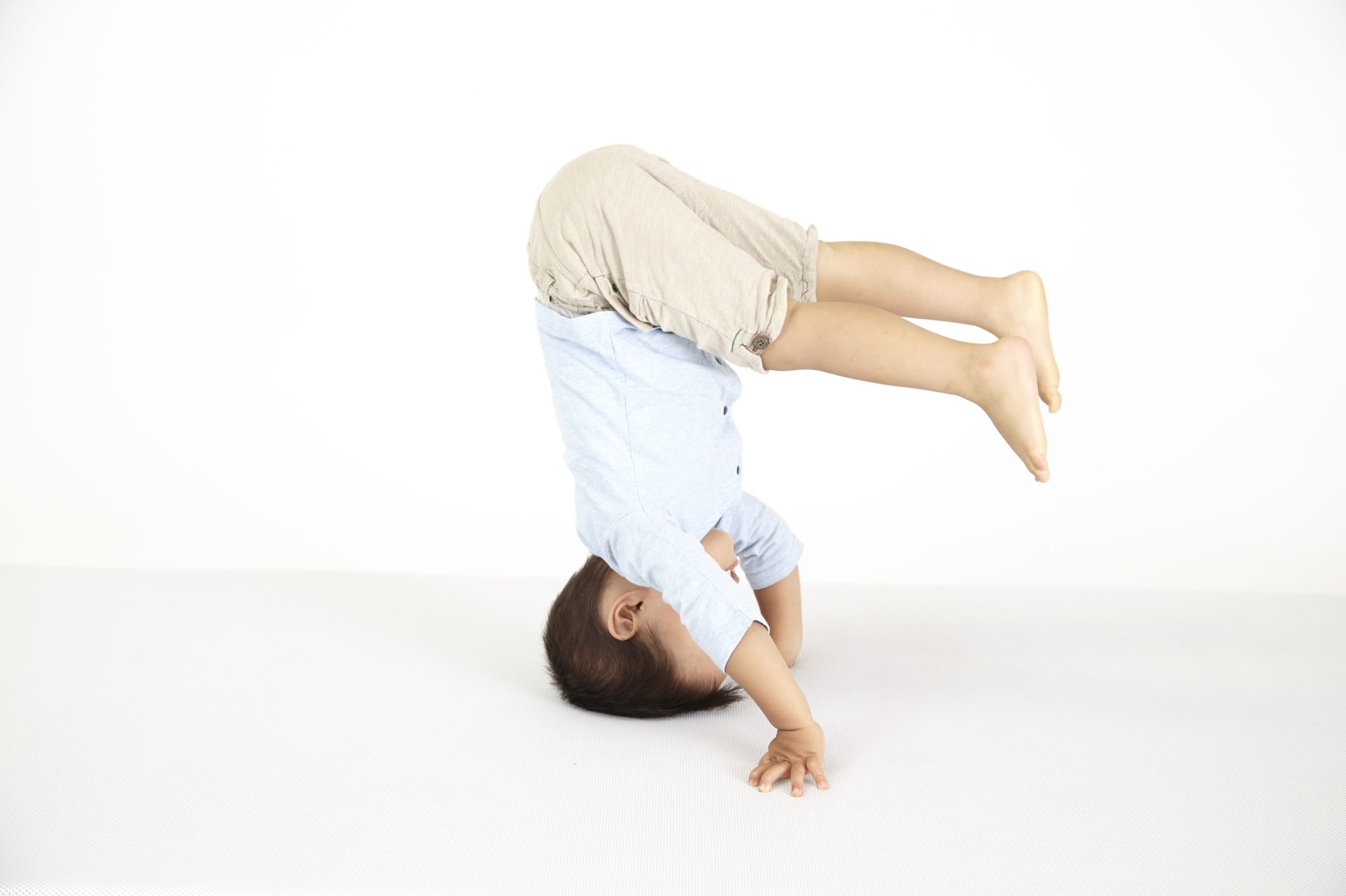 Toddler Doing Headstand