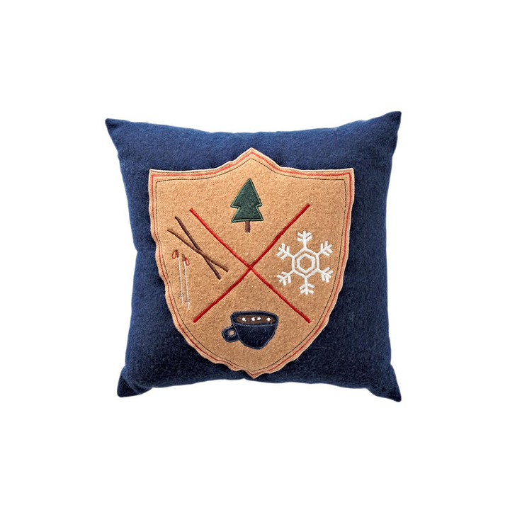 Holiday Crest Pillow