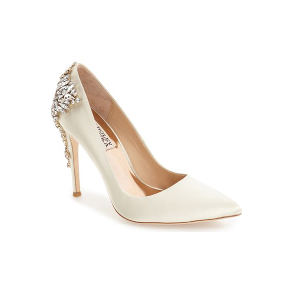 "Badgley Mischka ""Gorgeous"" Crystal Embellished Pointy Toe Pump"
