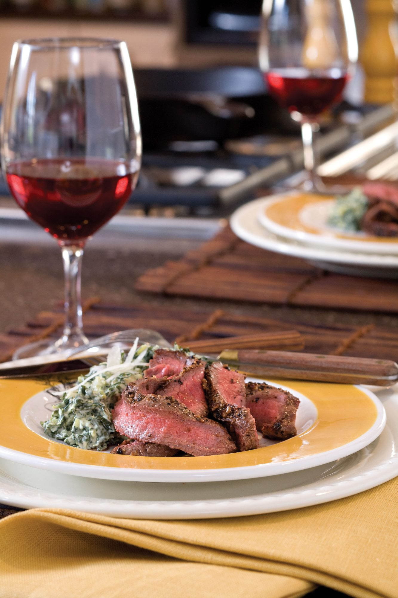 Pan Seared Flat Iron Steak