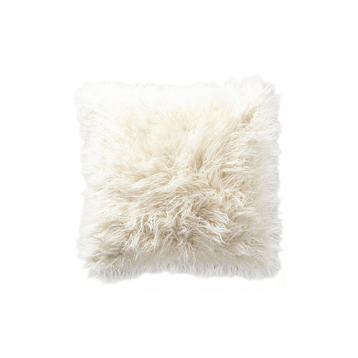 Shag White Pillow