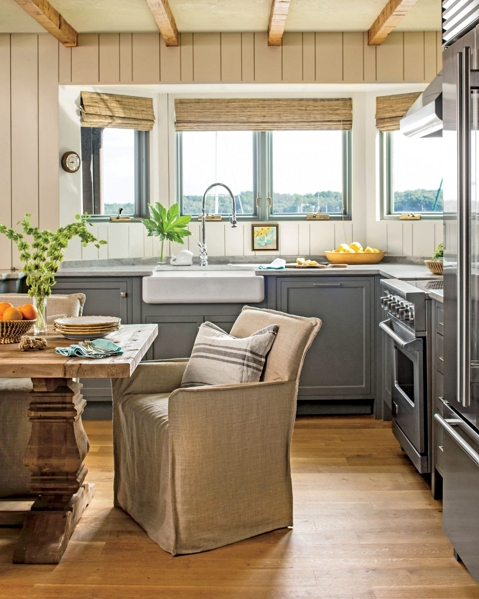 Gray and Neutral Kitchen