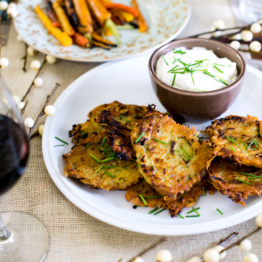 Brussels Sprouts & Potato Latkes