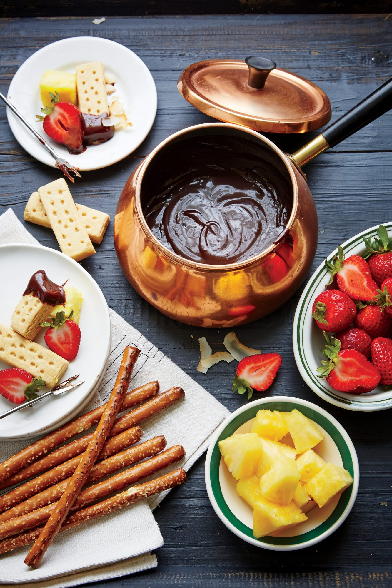 Coco-Loco Chocolate Fondue Recipe
