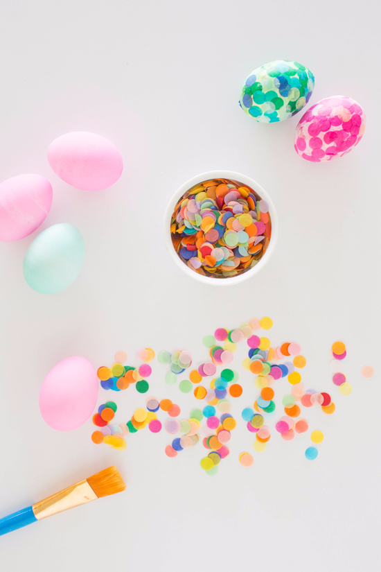 Tissue Paper Confetti Easter Eggs