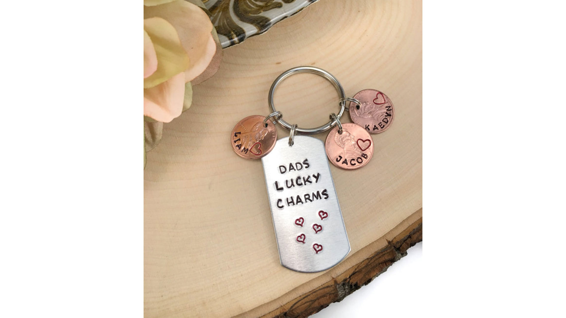 Dad's Lucky Charms Keychain