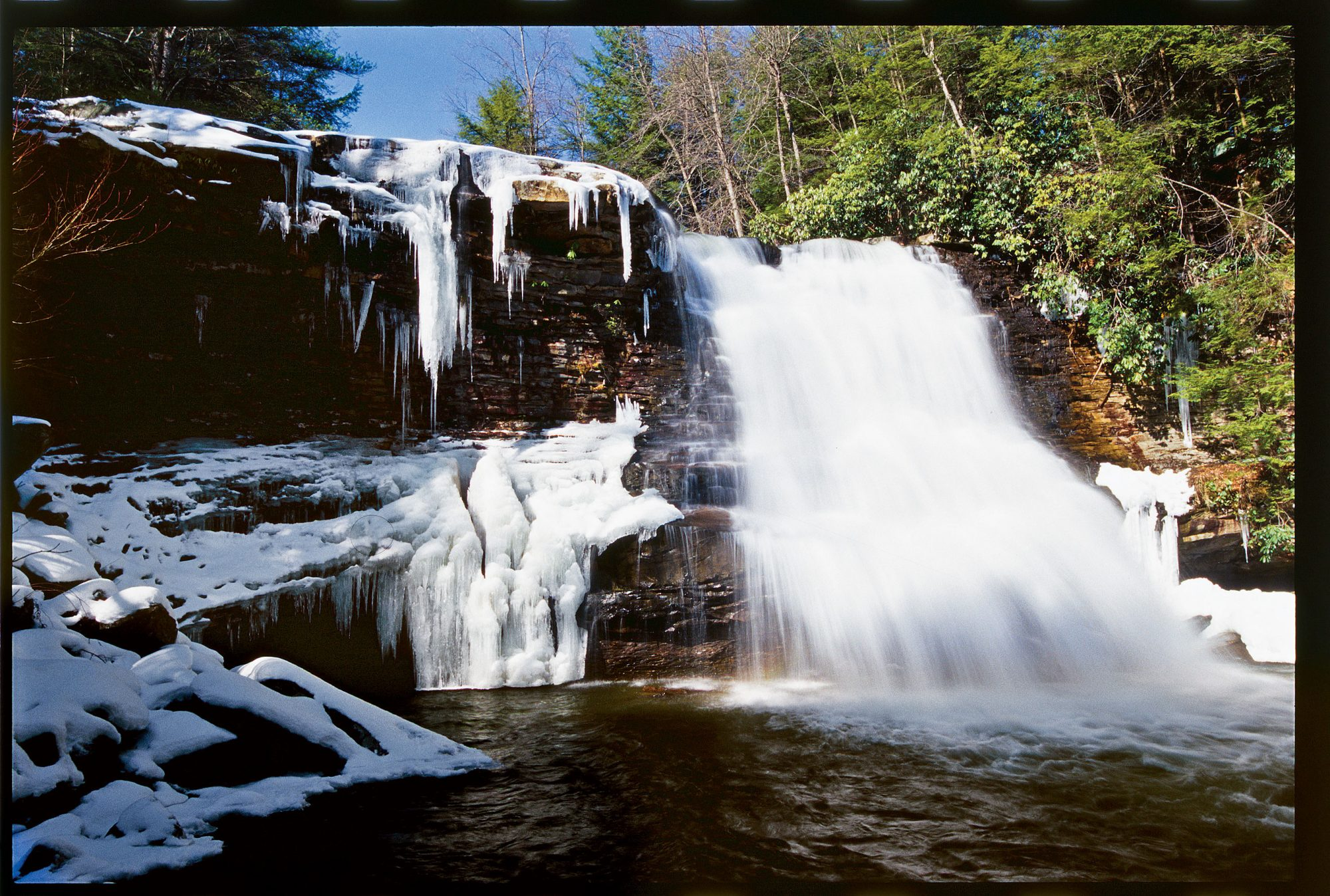 Waterfall in Deep Creek Lake, Maryland