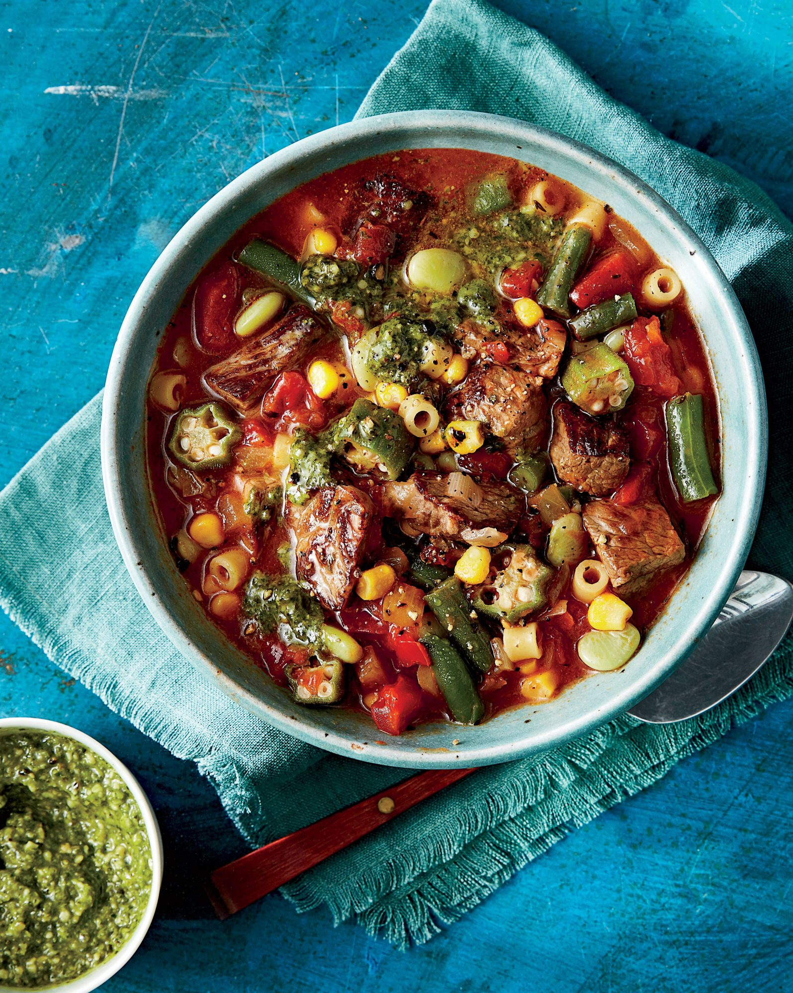 Hearty Beef and Freezer Veggie Soup