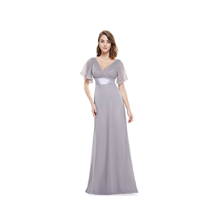 Ever-Pretty Women's Short Sleeve V-Neck Long Evening Dress