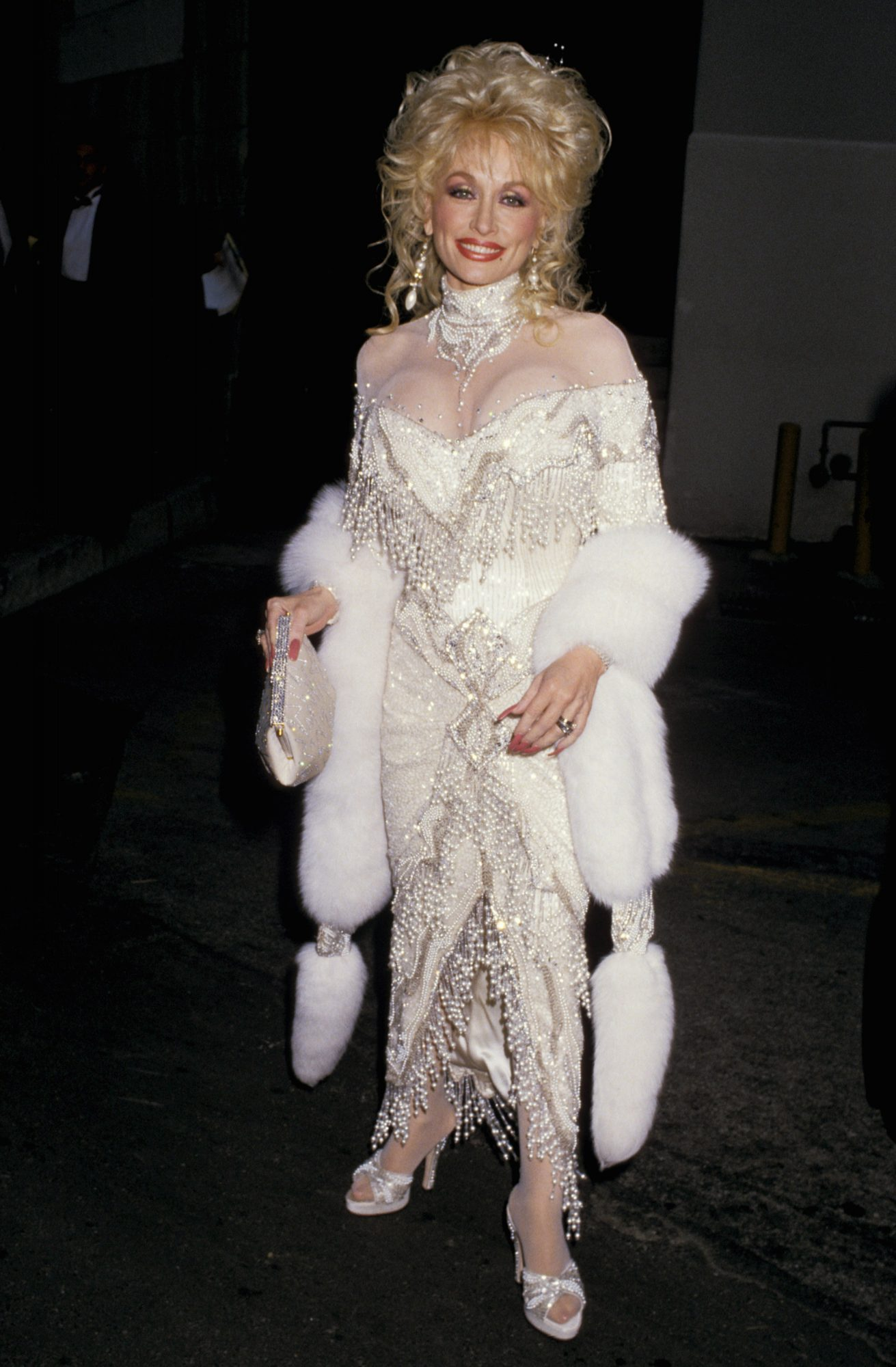Dolly Parton Red Carpet 1988
