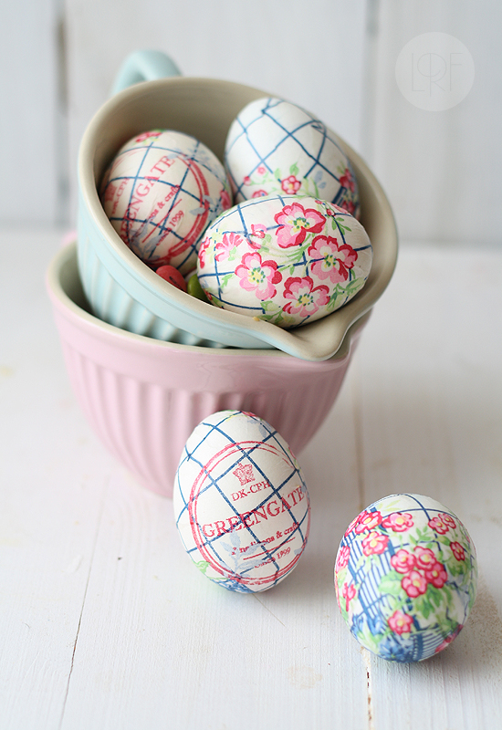 Easter Eggs Decorated with Napkins that You Can Eat