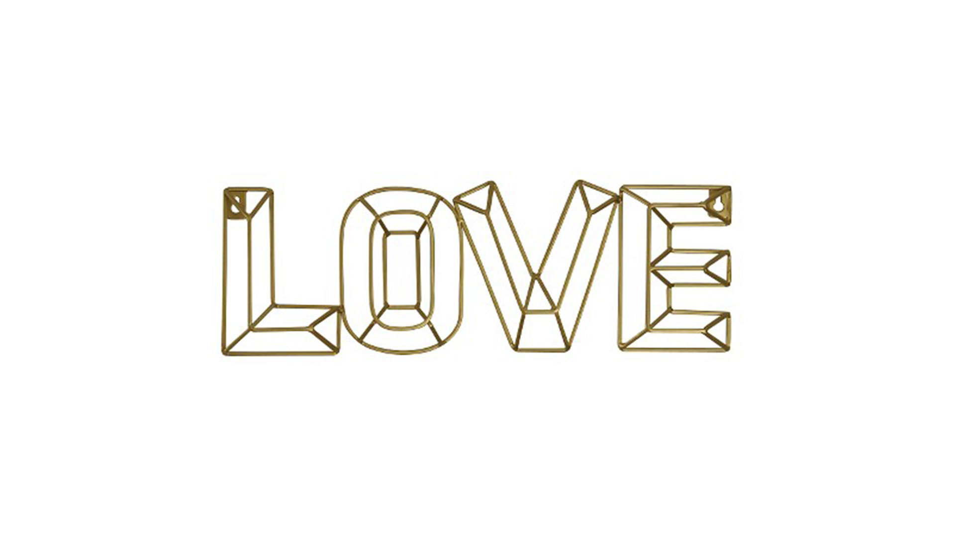 "Gold ""Love"" Wire Décor"