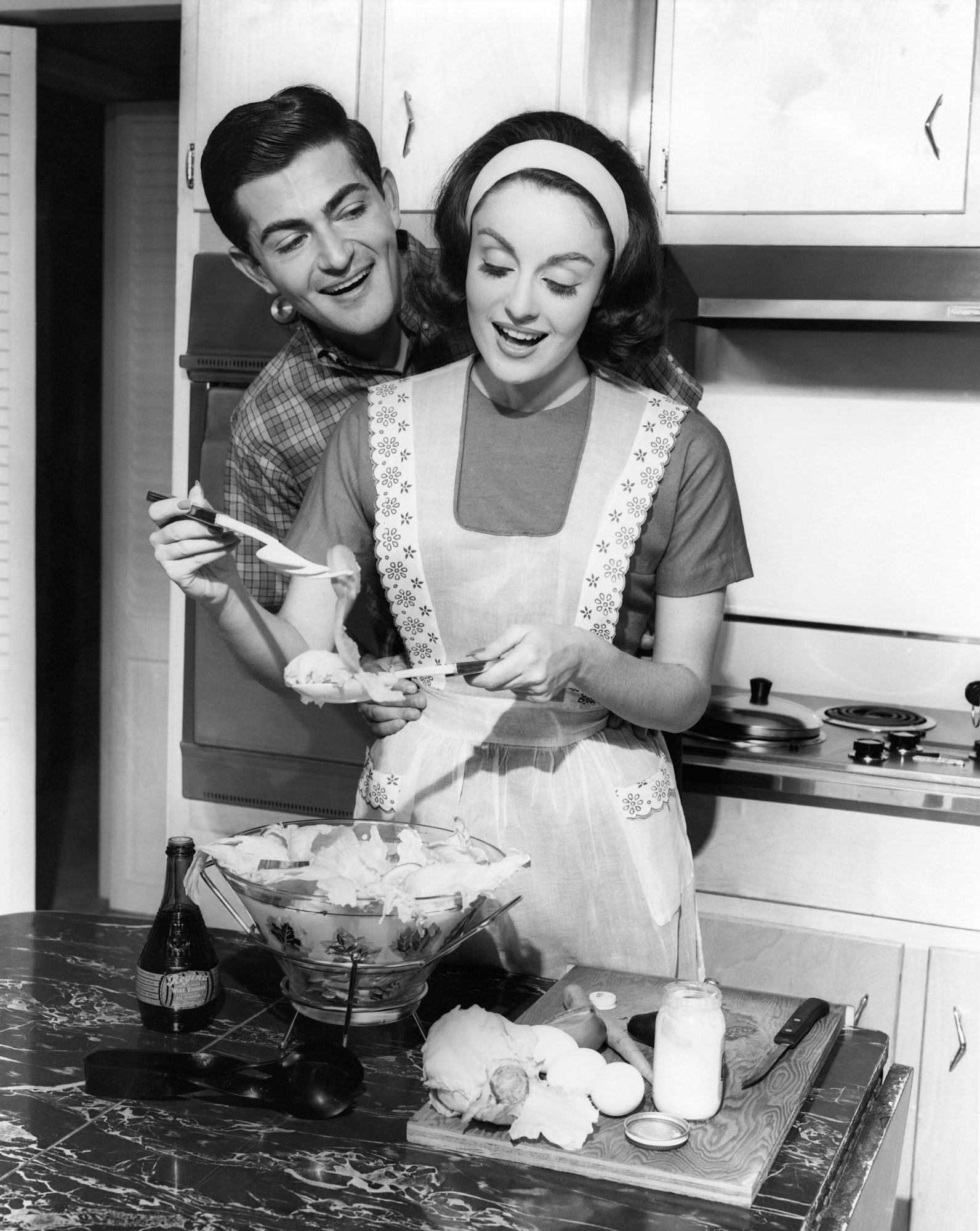 Married Couple Cooking