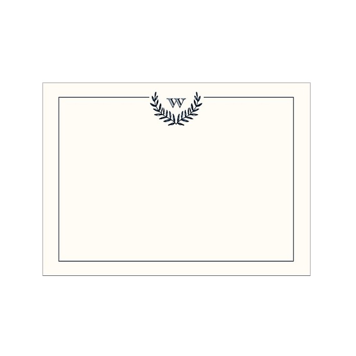 Paper Source Monogram Laurel Stationery