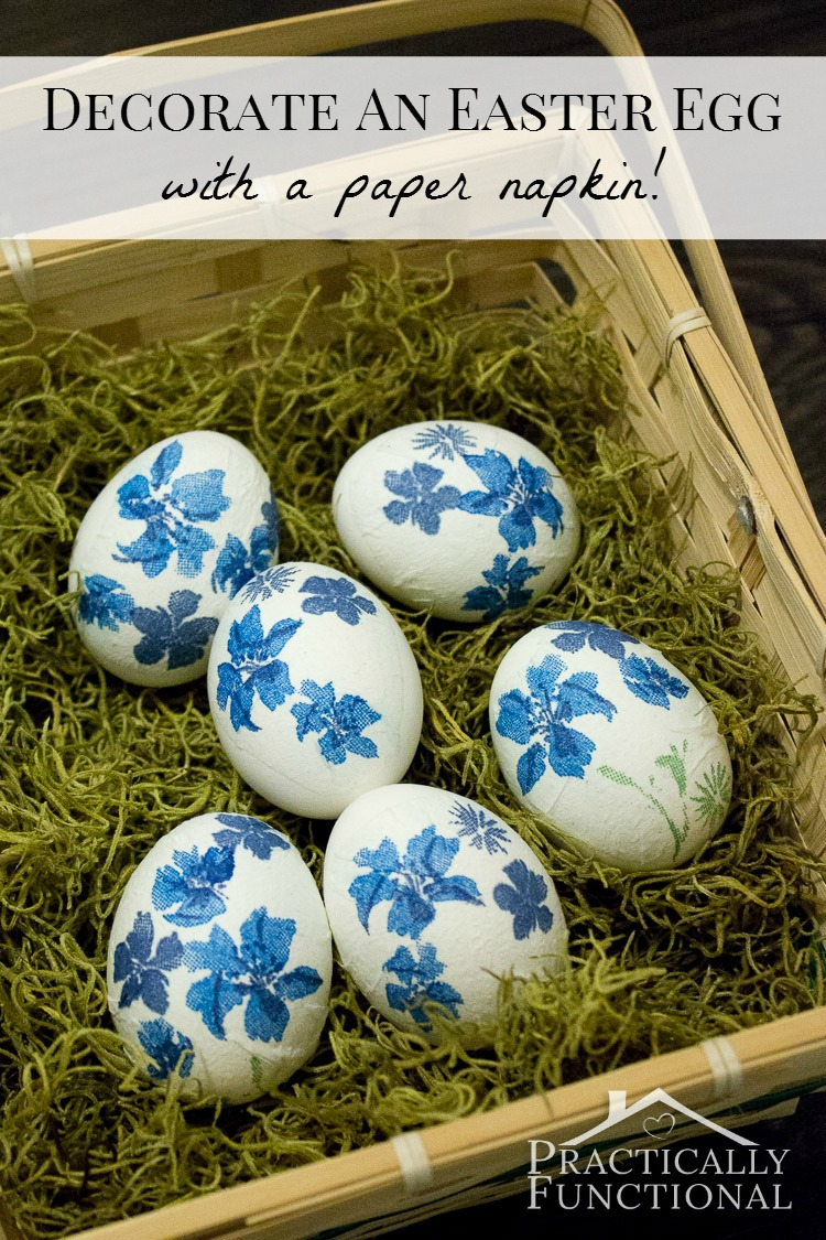 Napkin Pattern Easter Eggs