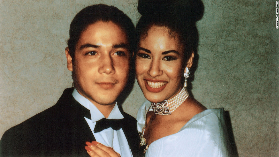 Selena Quintanilla and Chris Pérez