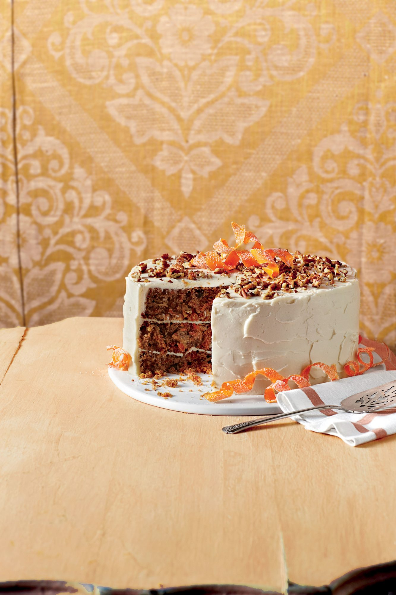 Carrot Cake with Chevre Frosting