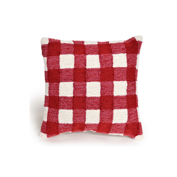 August Grove Ismay Gingham Throw Pillow