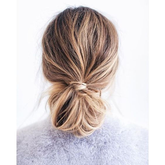 4th of July Hairstyle A Low Bun