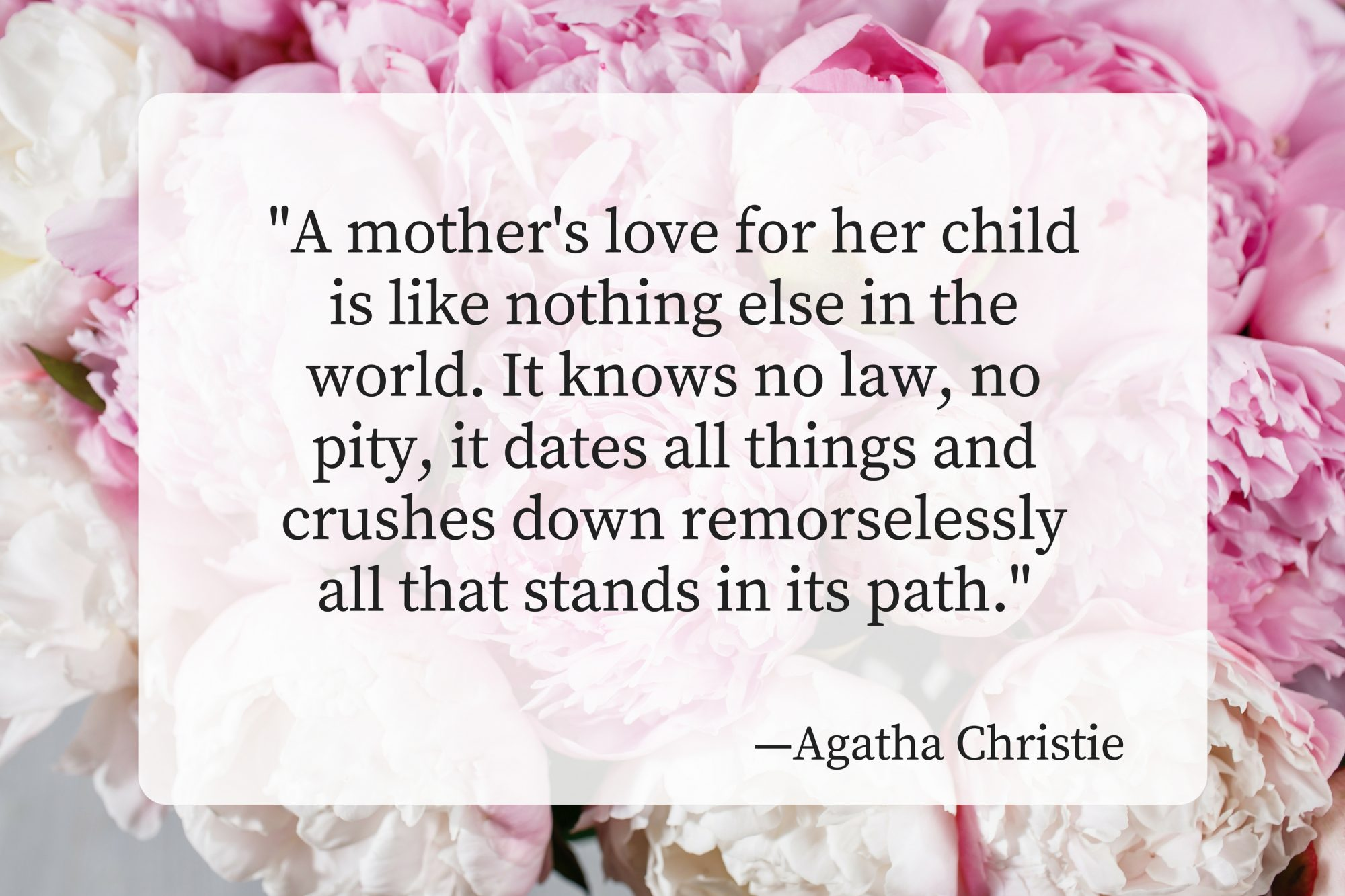 Mothers Day Quotes Agatha Christie