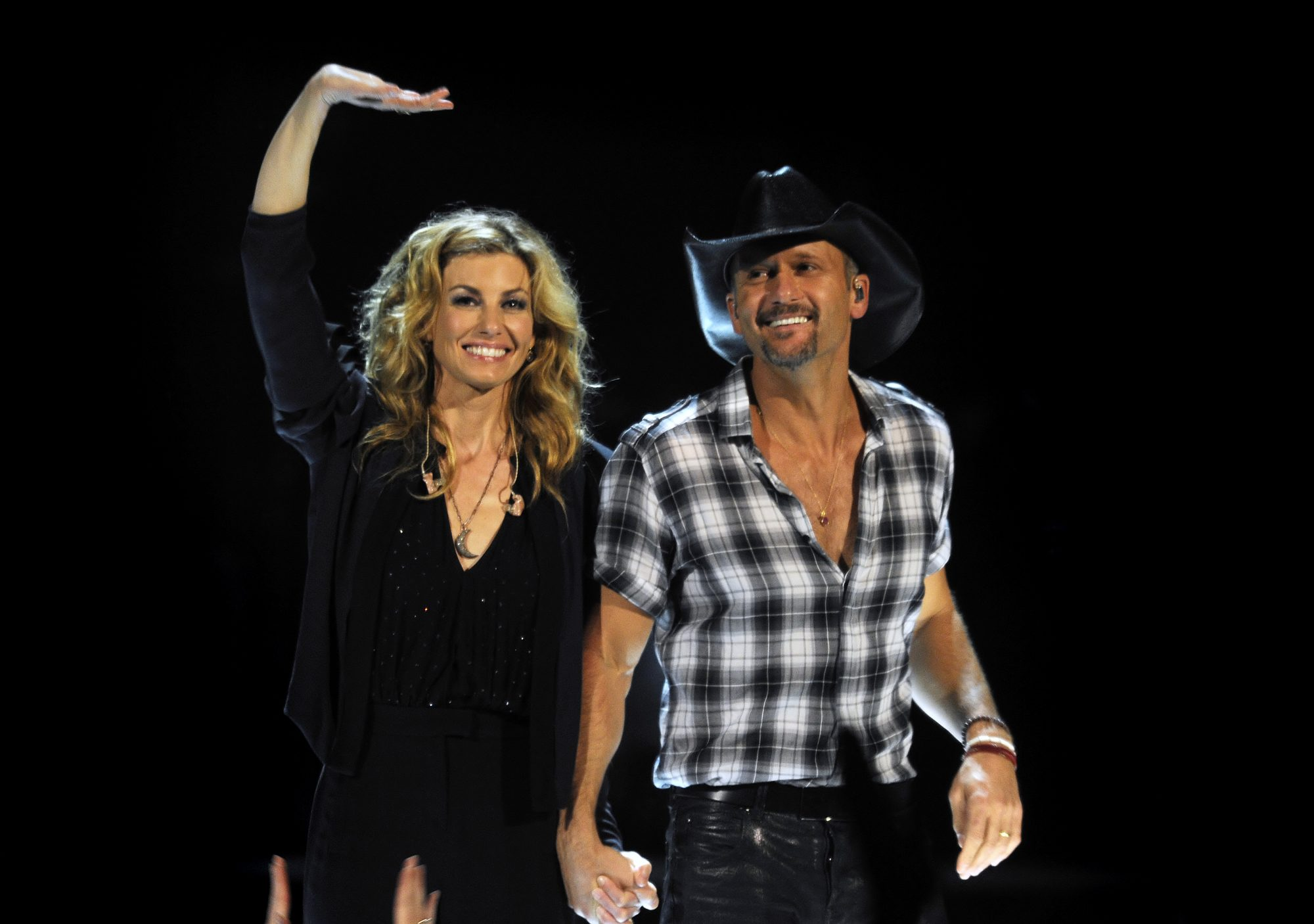 Faith Hill and Tim McGraw perform on stage at the Rod Laver Arena on March 20 2012, in Melbourne, Australia.