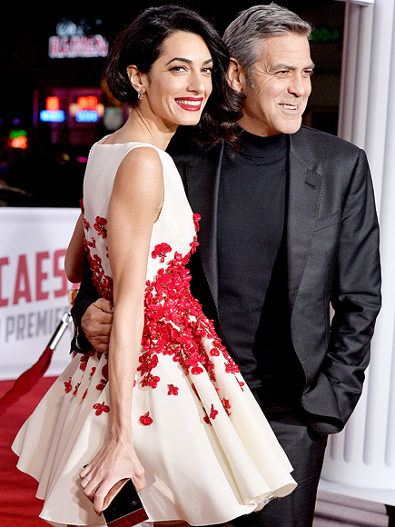 George Clooney and Amal Clooney attend Universal Pictures Hail, Caesar! premiere at Regency Village Theatre on February 1, 2016 in Los Angeles, CA, USA.