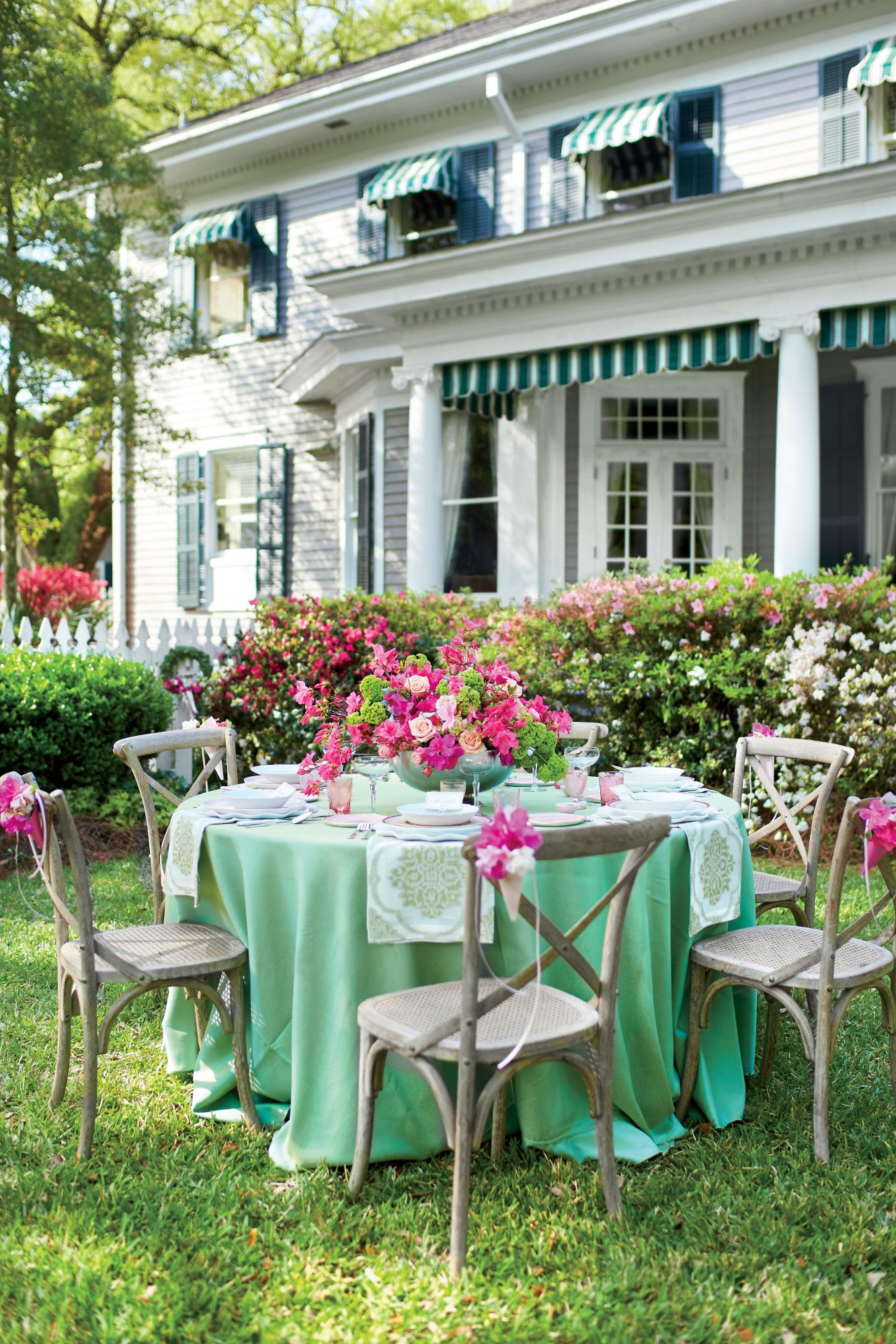 Azalea Flower Spring Party Garden Setting