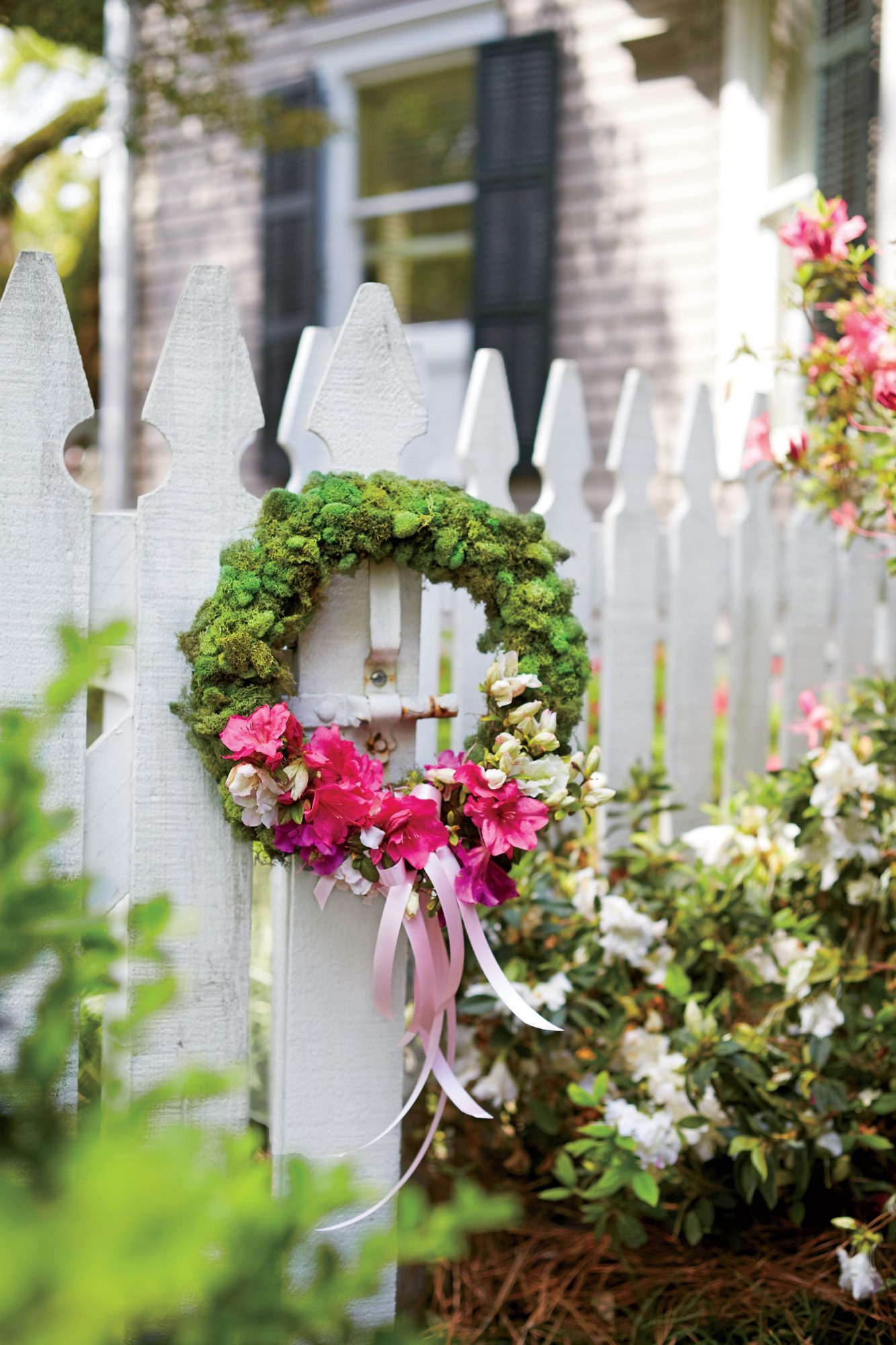 Azalea Flower Spring Party Garden Wreath
