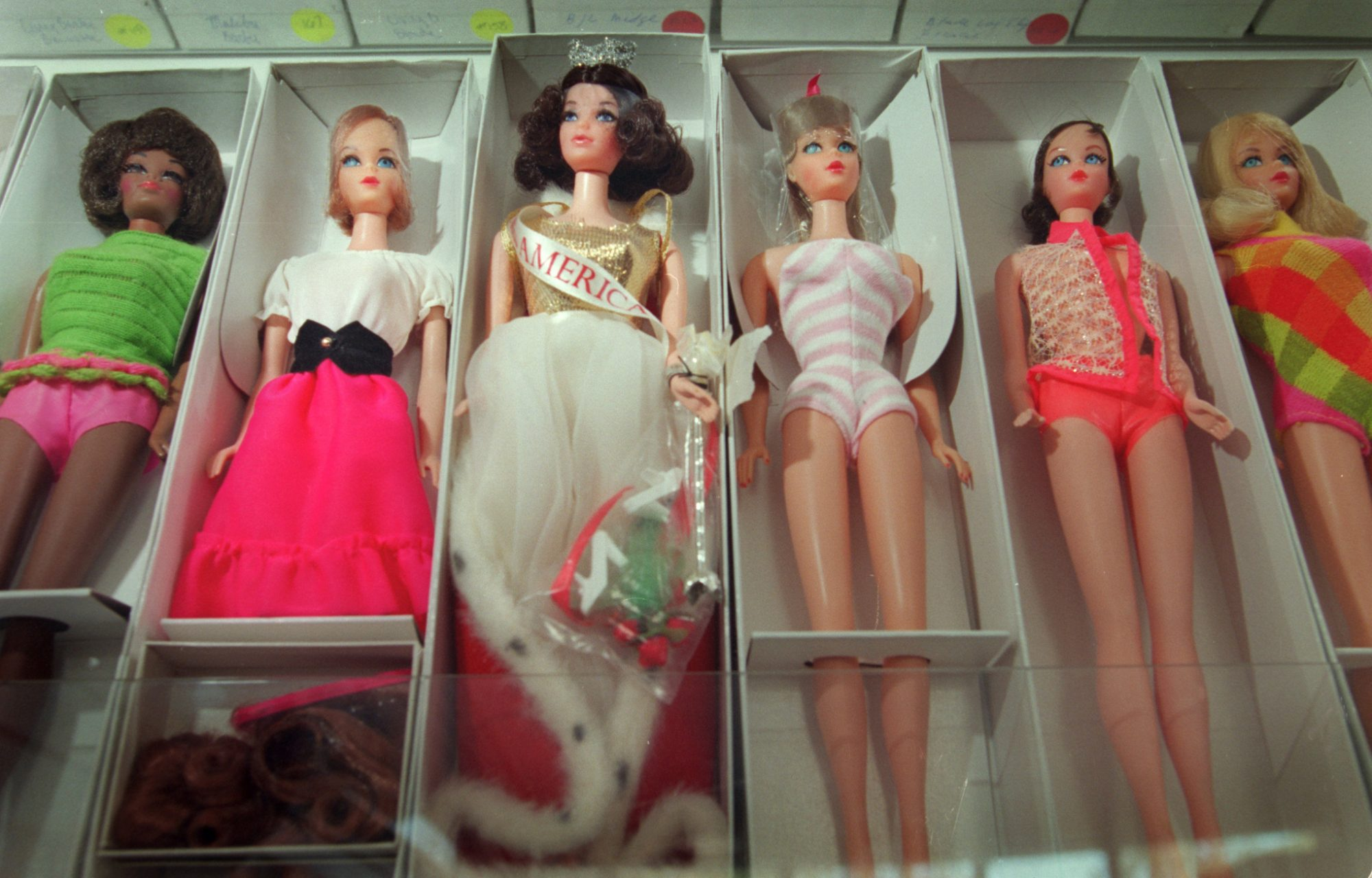 barbies in boxes