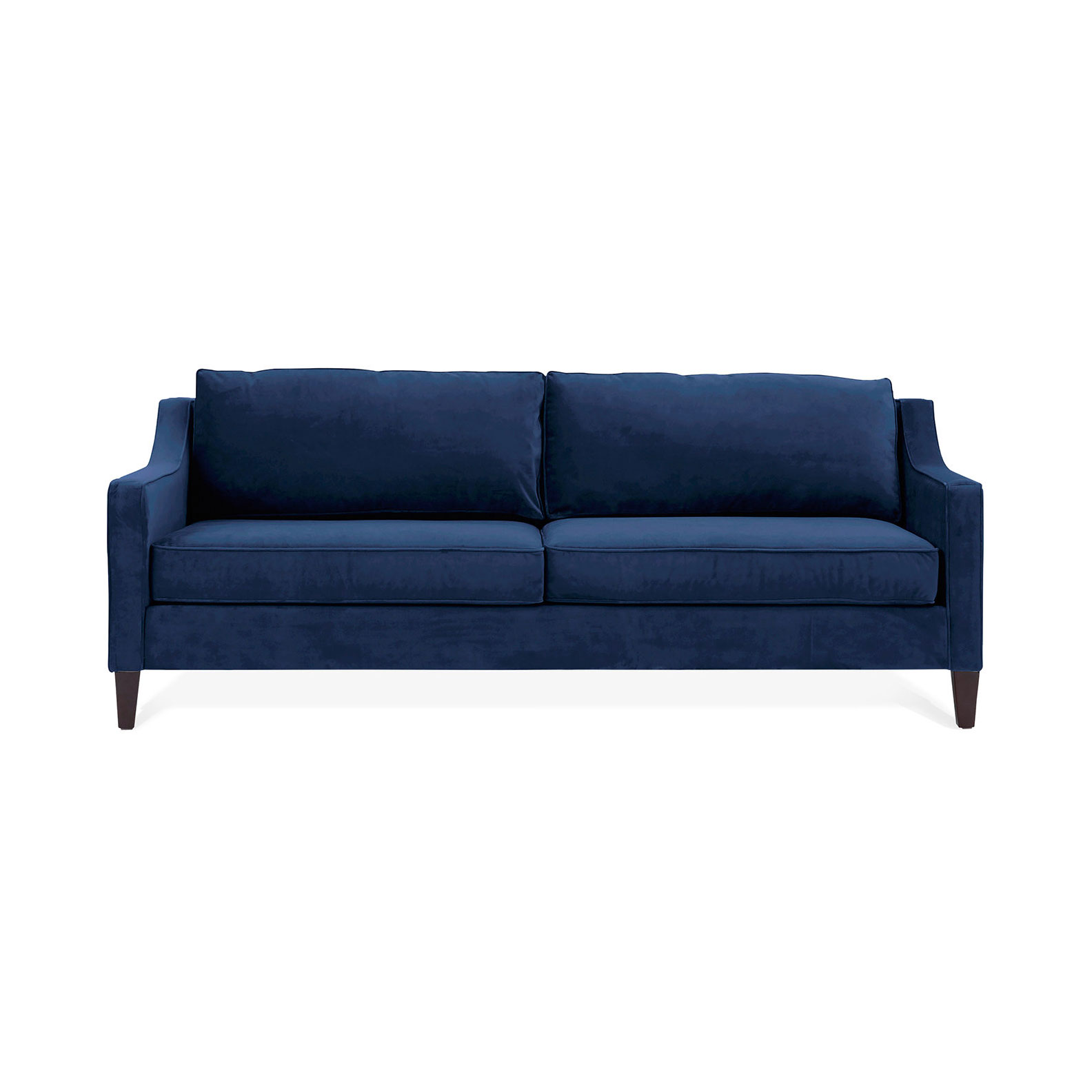 Deep Blue Suede Couch