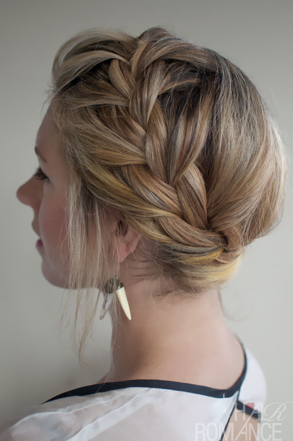 4th of July Hairstyle The French Crown Braid
