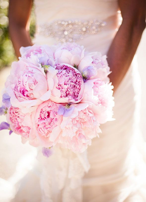 Peony Wedding Bouquets Lavender