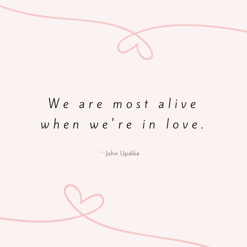 John Updike Love Quote