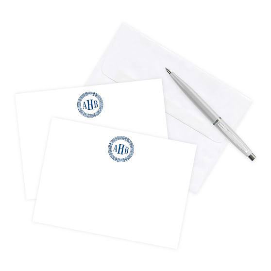 Monogrammed Correspondence Cards