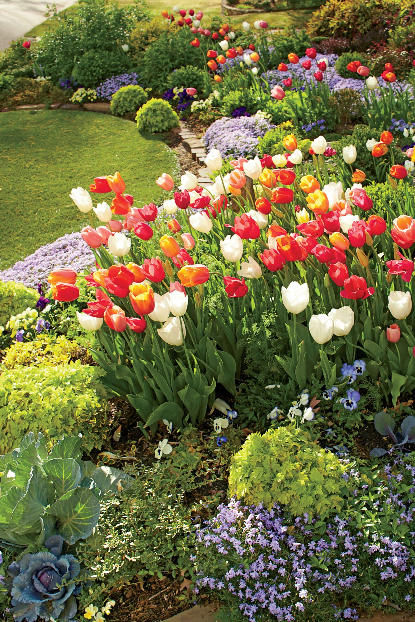 Linda Vater English Garden with Tulips in Oklahoma