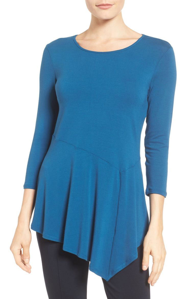 Asymmetrical Panel Hem Top