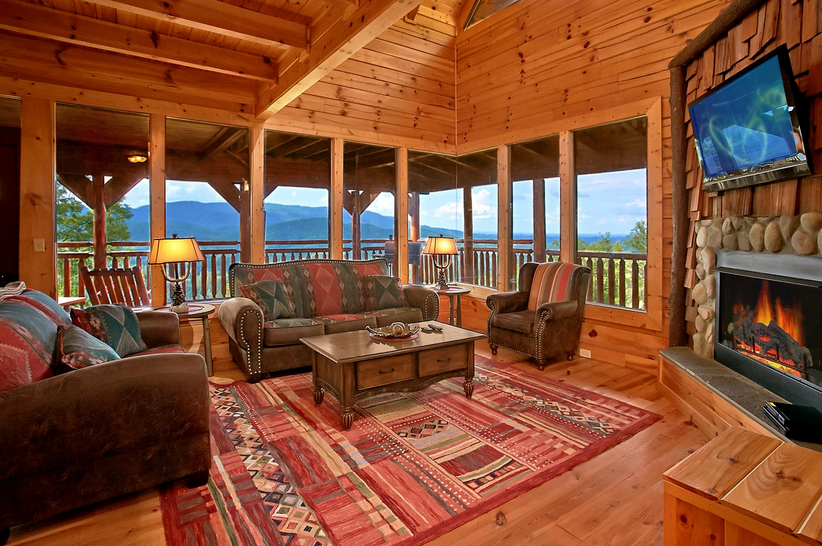 Great Smoky Mountains Cabin Rental: Passion's Peak