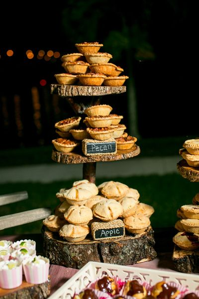 Rustic Pie Tower at Wedding