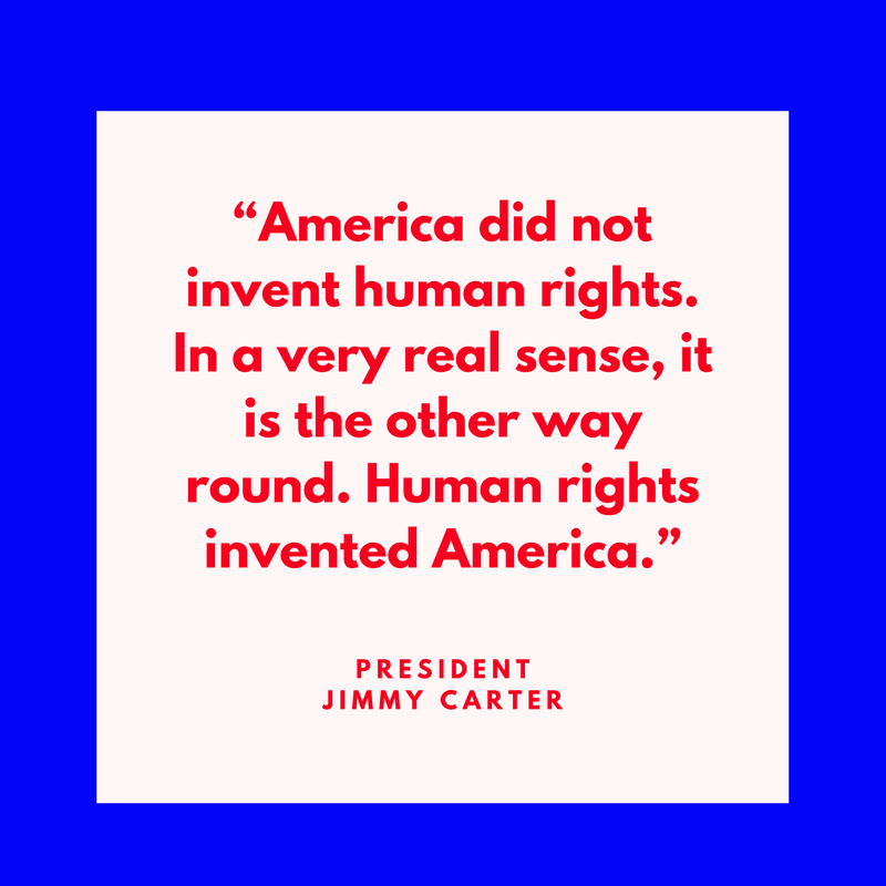 President Jimmy Carter on Human Rights