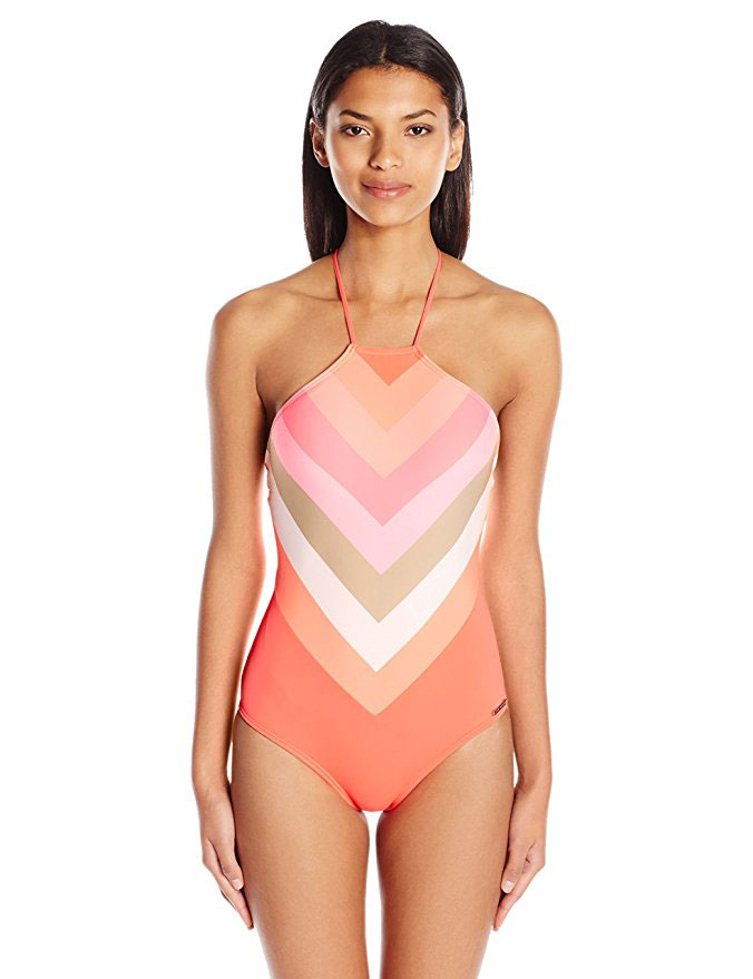 Chevron Halter One Piece